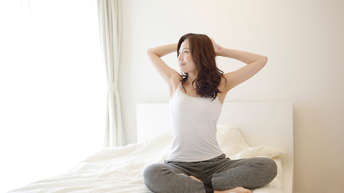 朝一番の深呼吸で爽快に目覚めよう~腹式呼吸~